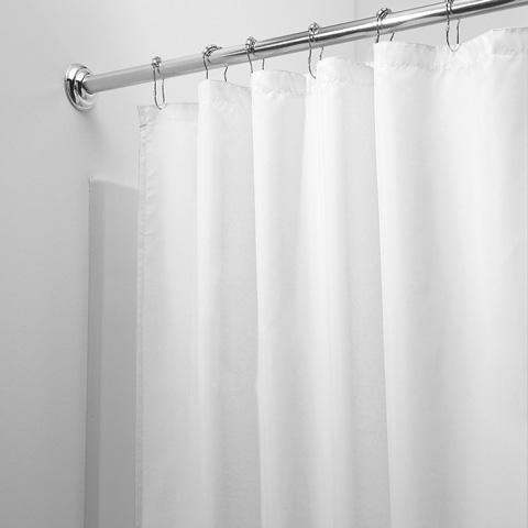 InterDesign Mildew-Free Water-Repellent Fabric Shower Curtain Review