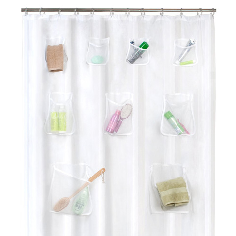 Maytex Mesh Pockets PEVA Shower Curtain Clear Review