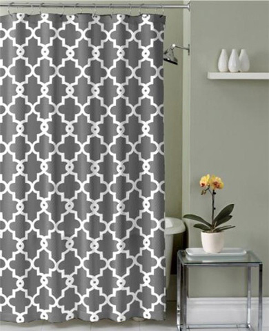 Ruthy's Textile Geometric Patterned Shower Curtain Review