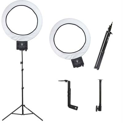 "Diva Ring Light Super Nova 18"" Dimmable w/6' Stand"