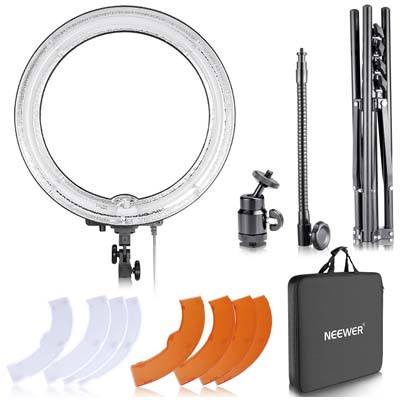 "Neewer 18"" Dimmable Fluorescent Ring Light Kit"